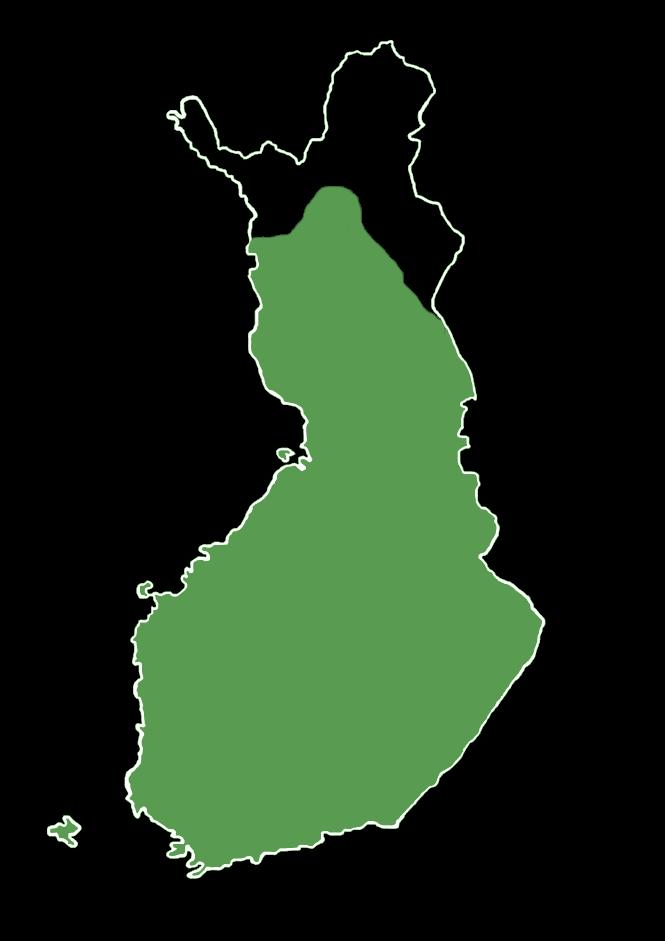 Tämän kalan levinneisyys Suomessa.